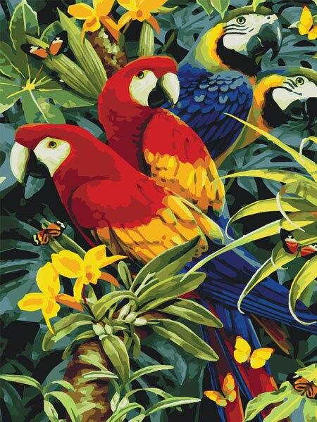 Parrots 16 Diamond Painting Kit - Diamond Painting Corner