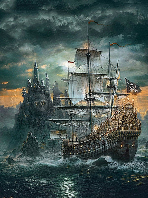 Pirate Ship - Diamond Painting Corner