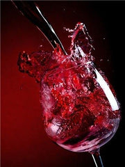 Red Wine Splash Diamond Painting Kit - Diamond Painting Corner