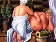 Senior Couple in a Sauna - Diamond Painting Corner