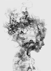 Smoke Woman Portrait - Diamond Painting Corner