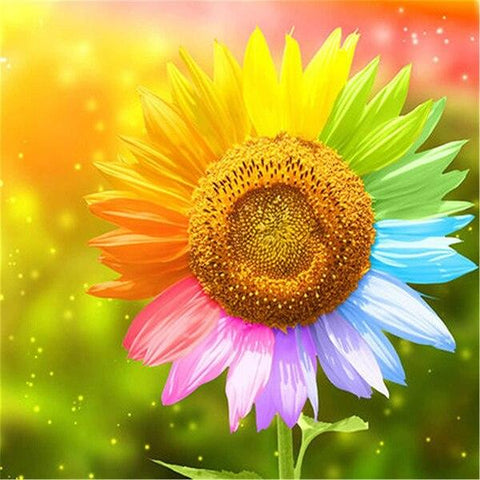 Sunflower Rainbow - Diamond Painting Corner