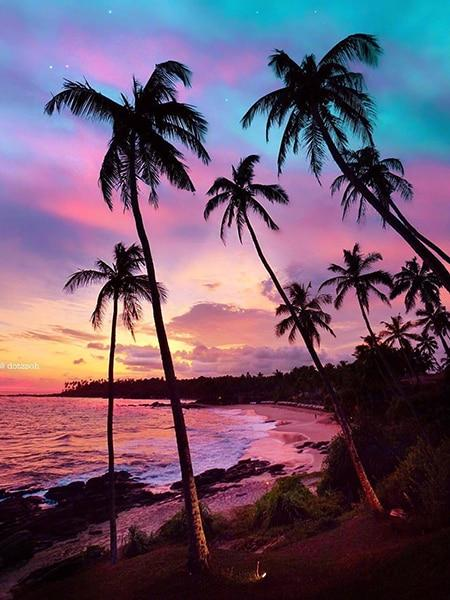 Sunset with Palms 20 Diamond Painting Kit - Diamond Painting Corner