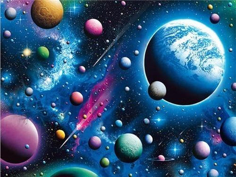 The Earth & the Universe Diamond Painting Kit - Diamond Painting Corner