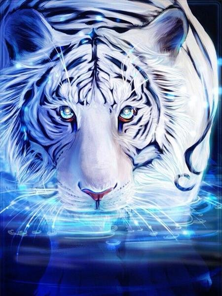 Tiger with Lights Diamond Painting Kit - Diamond Painting Corner