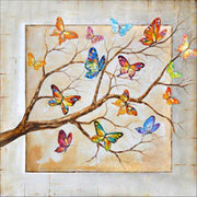 Tree Branch with Butterflies - Diamond Painting Corner
