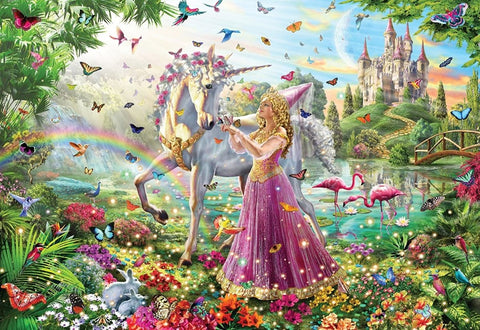 Unicorn and Princess - Diamond Painting Corner