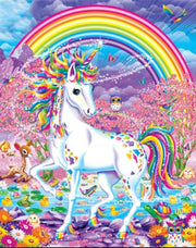 Unicorn with Rainbow - Diamond Painting Corner