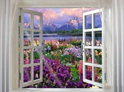 Window with Views 07 Diamond Painting Kit - Diamond Painting Corner