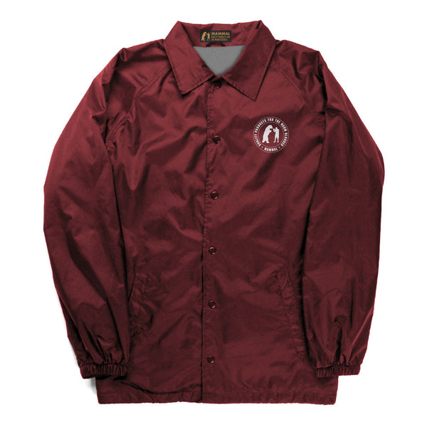 Drop Out Coaches Jacket (Burgundy)