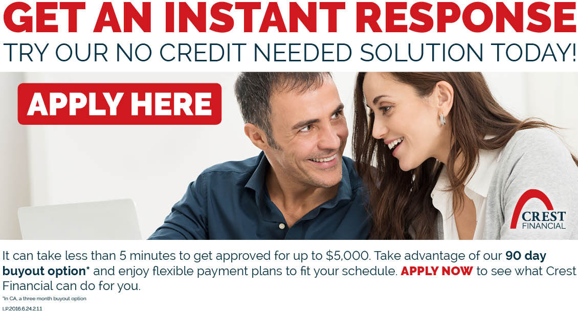 KJ BRANDS - Crest Financial - Financing up to $5000.