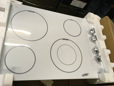 Maytag white and stainless steel Cooktop ,Model # MEC7430BW