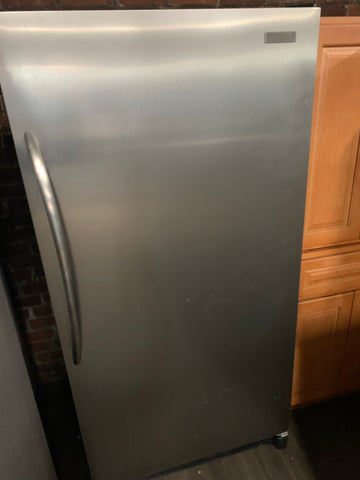 FRIGIDAIRE RH SWING STAINLESS STEEL UPRIGHT REFRIGERATOR..