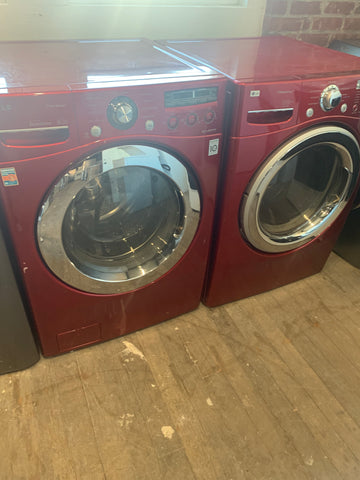 LG FRONT LOAD WASHER AND FRONT LOAD ELECTRIC DRYER BUNDLE..WM2450HRA,DLEX7177RM..