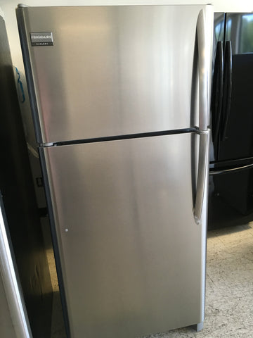 TOP FREEZER BOTTOM FRIDGE STAINLESS STEEL REFRIGERATOR BY FRIGIDAIRE GALLERY