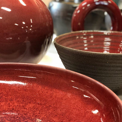 copper red bowls