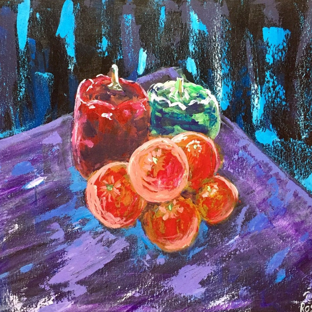 Still life in Acrylic, Sundays, 3-5 pm
