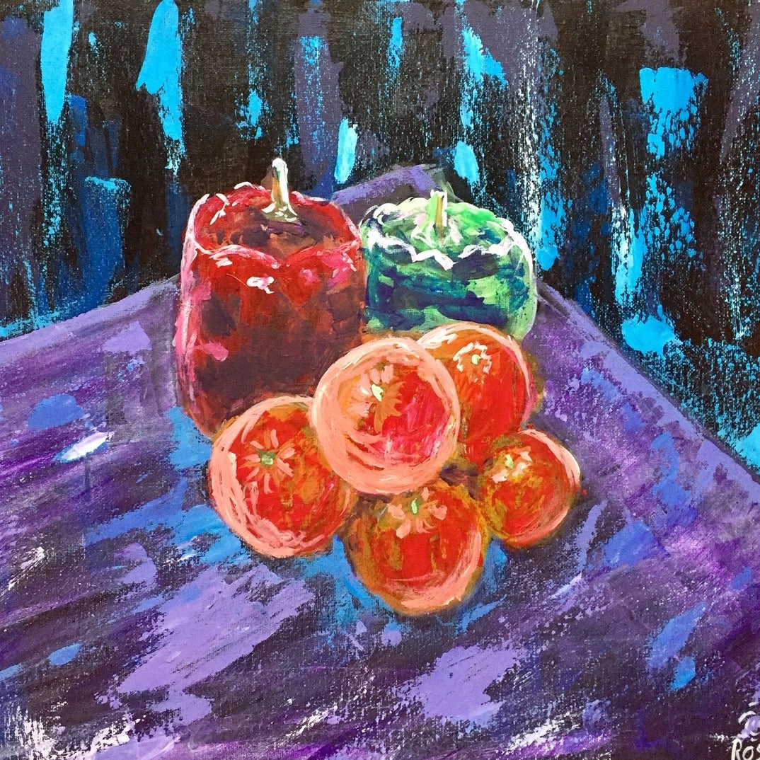 Surreal Still Life in Acrylics, Mondays 7-9 pm.