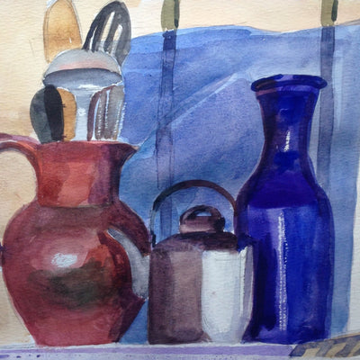 Watercolor, all levels, Saturdays, 10 am -12 noon