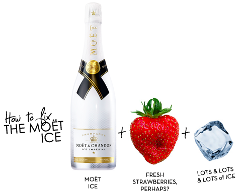 3 x MOËT & CHANDON ICE IMPERIAL 75 CL CHAMPAGNE