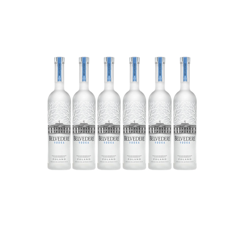 En kasse - Belvedere Pure Vodka 70 CL