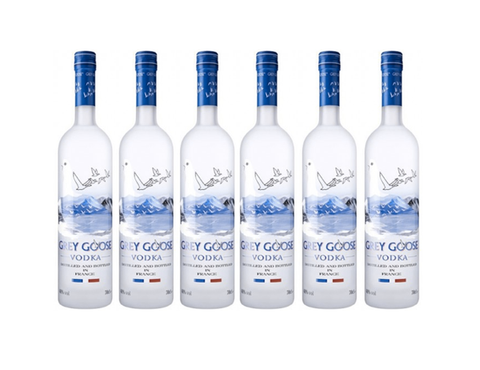 6 x Grey Goose Vodka 70 cl