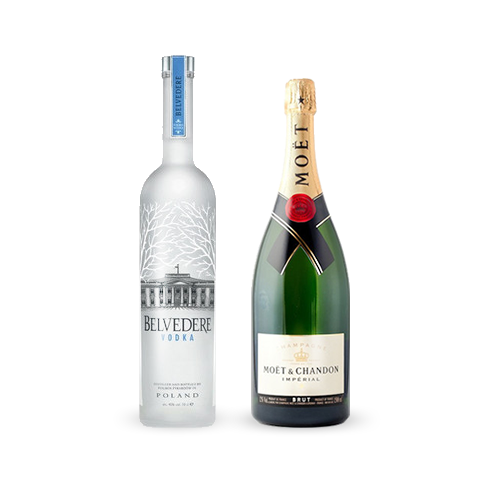 Moët Imperial Brut 75cl & Belvedere Vodka 70cl