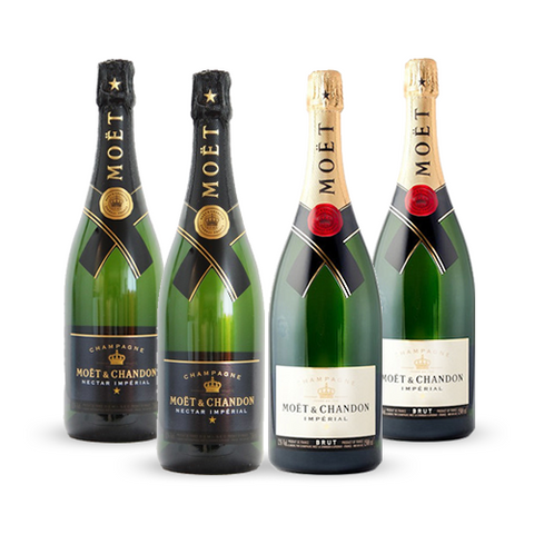 2 x Moët Chandon Brut 75cl & 2 x Moët Chandon Nectar 75cl