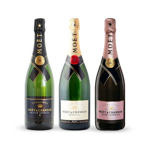 Moët Chandon Love pakke - 3 x 75 cl