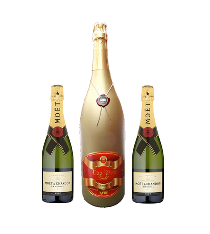 Wine Gold 3 Liter & 2 x Möet Chandon Brut Imperial 75 cl