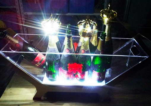 Gold LED Champagne Crown