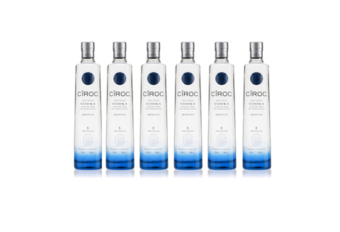 En kasse - Ciroc Vodka 70 Cl