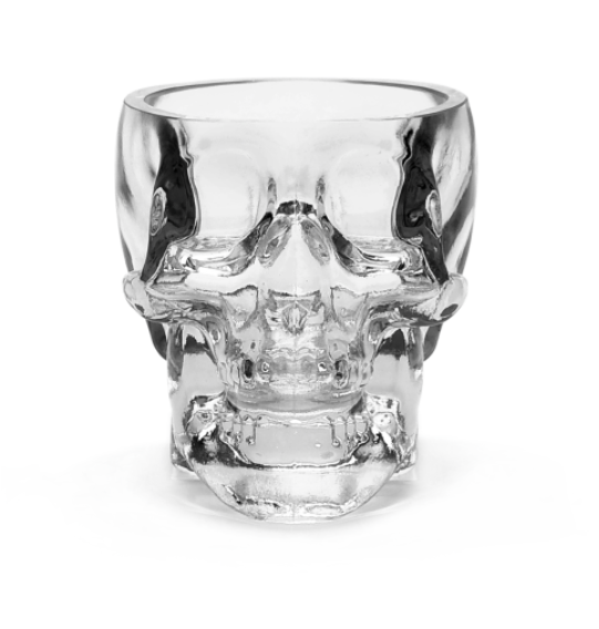 2 x Crystal Head Vodka Shotsglas