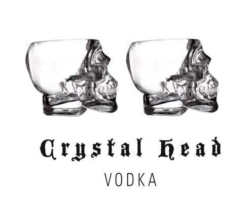6 x Crystal Head Vodka Shotsglas