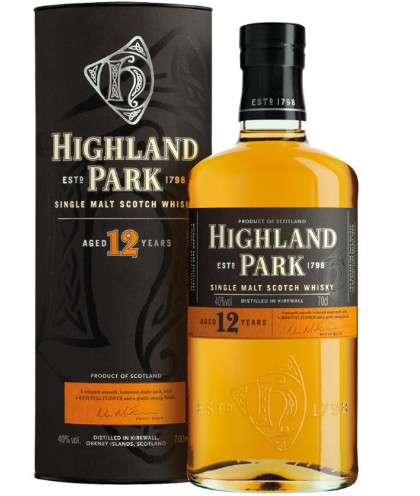 Highland Park Single Malt 12 års Whisky 40%
