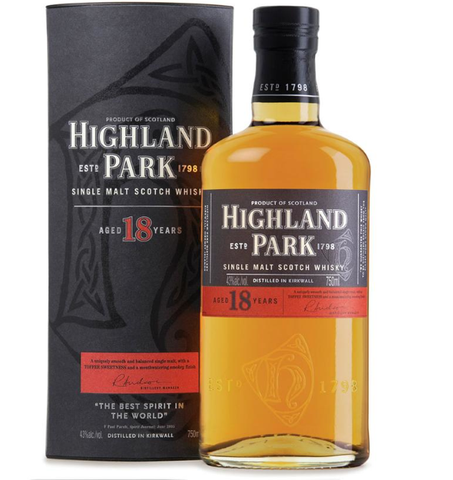 Highland Park Single Malt 18 års Whisky 43%