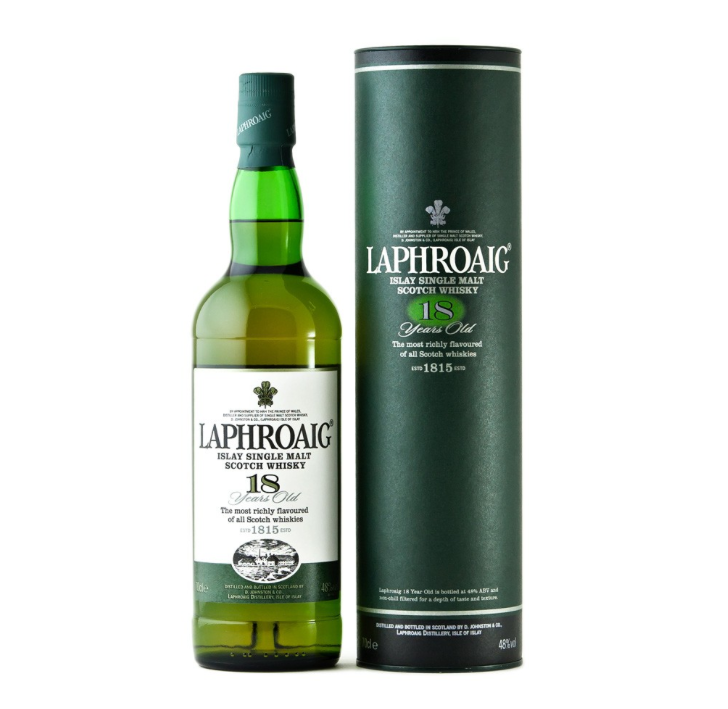 Laphroaig 18 års Islay Single Malt Whisky 48%