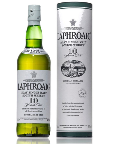 Laphroaig 10 års Islay Single Malt Whisky 40%