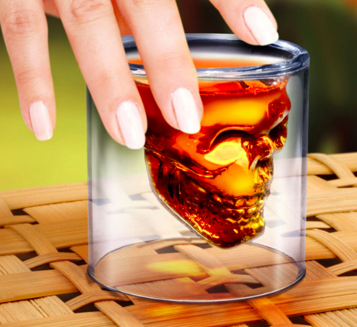 6 x Skull Head Shotsglas - 7 CL