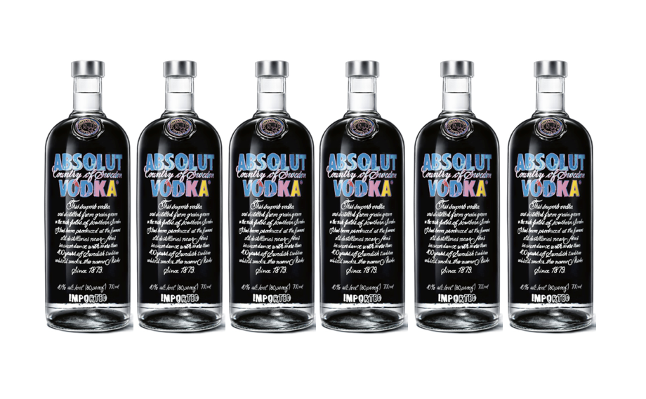 6 x Absolut Vodka by Andy Warhol - Limited Edition