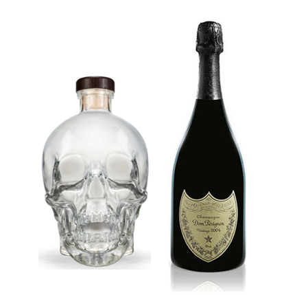 Dom Perignon Vintage 2006 + Crystal Head Vodka 70cl