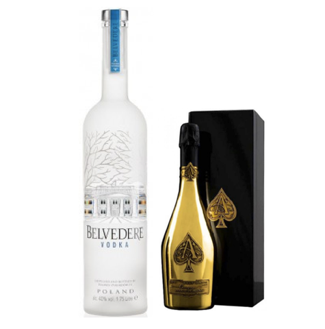 Armand De Brignac Gold 75cl + Belvedere Vodka 3L