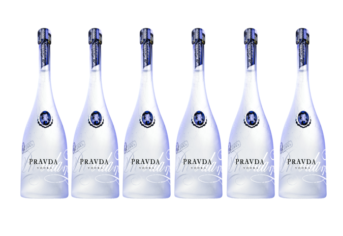 6 x Pravda Vodka 40% 70cl