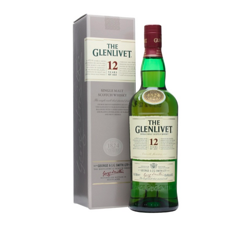 Glenlivet Single Malt 12 års Whisky 40% 70 cl.