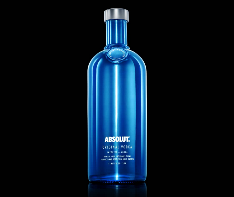 6 x Absolut Vodka Electrik Silver + Blue