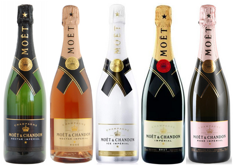 Moët & Chandon love pakken - 5 x 75 cl