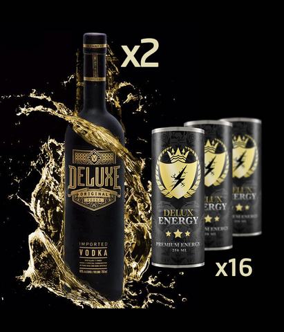 2 x Deluxe Vodka 70cl & 16 Delux Energy