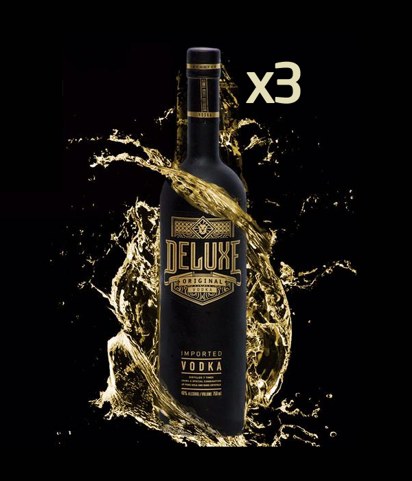 3 x Deluxe Vodka 70cl