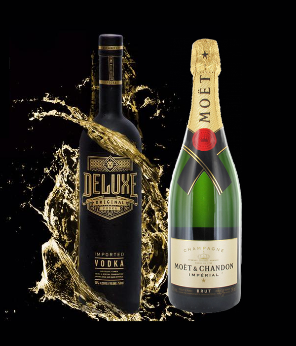 Deluxe Vodka 70cl & Moët Chandon Brut 75cl