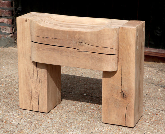 Oak wooden bench seat for indoor and outdoor - hand made from solid Oak